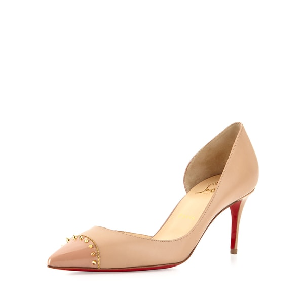 online store 4dc98 6705d Shop Christian Louboutin Culturella 70 Nude Spiked d'Orsay ...