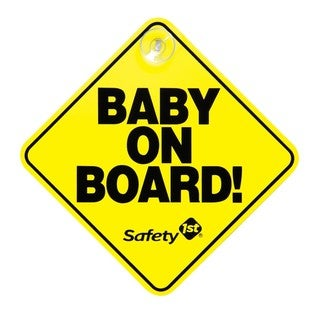Safety 1st 'Baby on Board' Yellow Plastic Sign