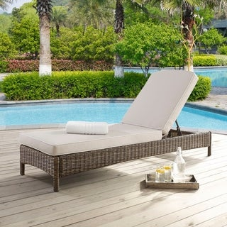 Bradenton Chaise Lounge with Sangria Cushions