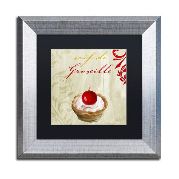 Color Bakery 'Tartes Francais, Currant' Matted Framed Art - Grey