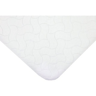American Baby Company White Waterproof Quilt-like Protective Twin-size Pad
