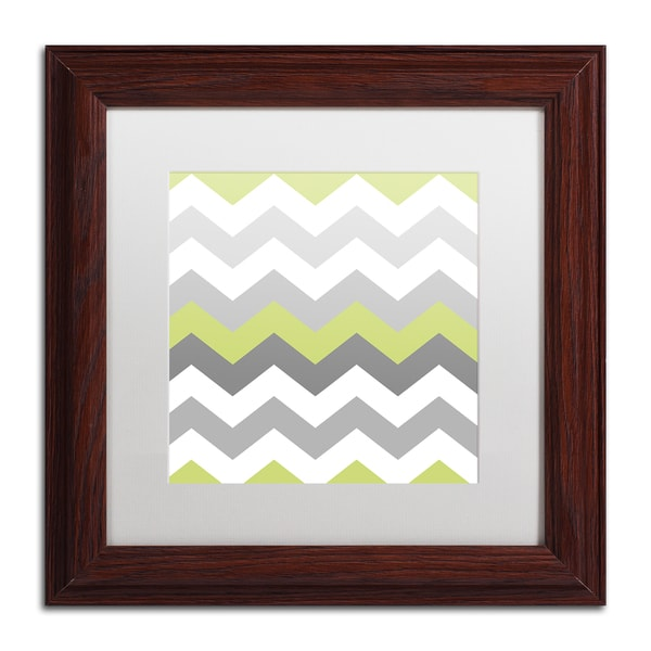 Color Bakery 'Calyx Chevron' Matted Framed Art - Red