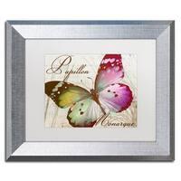 Color Bakery 'Papillon II' Matted Framed Art - Multi