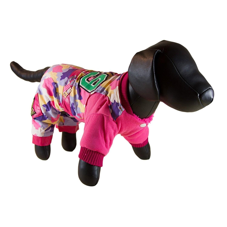 Petcessory Pink Cotton Camouflage Dog Parka Jacket (X-Lar...