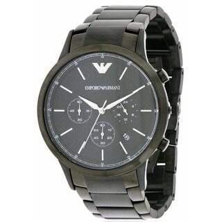 Emporio Armani Black Stainless Steel Chronograph Men's Watch AR2485