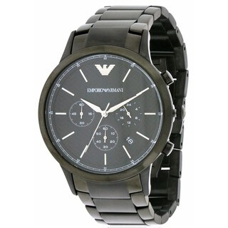 Emporio Armani Black Stainless Steel Chronograph Men's Watch AR2485
