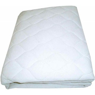 American Baby Company White Waterproof Quilted Crib and Toddler Mattress Cover