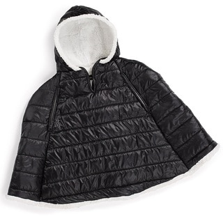 Summer Infant Black Sherpa Puffer Carseat Coat