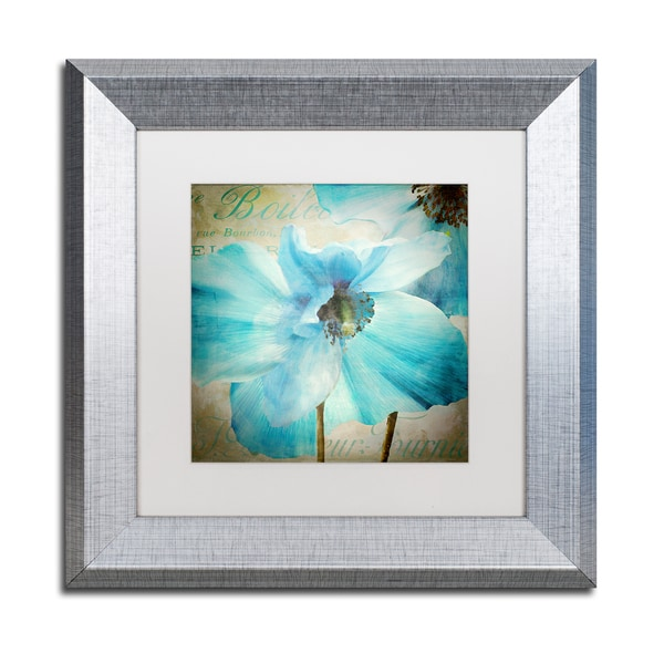 Color Bakery 'Himalayan Blue II' Matted Framed Art