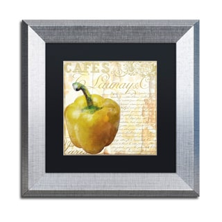 Color Bakery 'Cafe d Or VII' Matted Framed Art