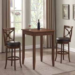 Lucca Cherry 3-Piece Pub Table Set by Greyson Living
