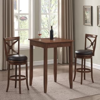 Lucca Cherry 3 Piece Pub Table Set by Greyson Living. Bar   Pub Table Sets For Less   Overstock com