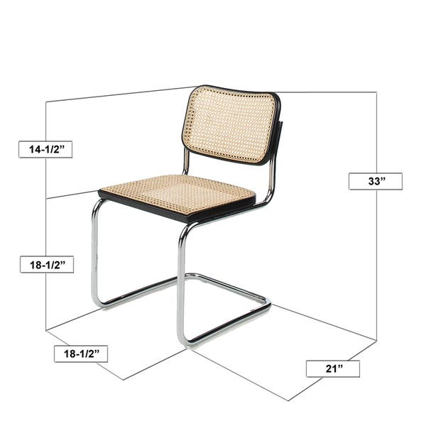 Breuer Chair Company Cesca Cane Dining Chair In Chrome And Honey Oak Overstock 14783391