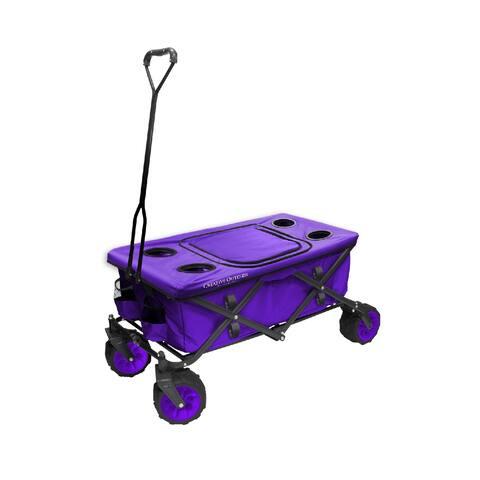 Creative Outdoor All-Terrain Folding Wagon, Purple