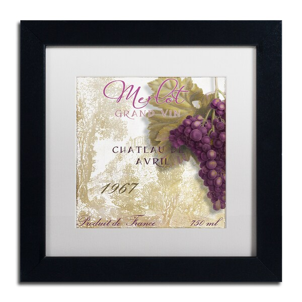 Color Bakery 'Grand Vin Merlot' Matted Framed Art - Multi