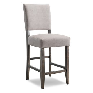 Heather Grey Upholstered Counter Height Stool (Set of 2)