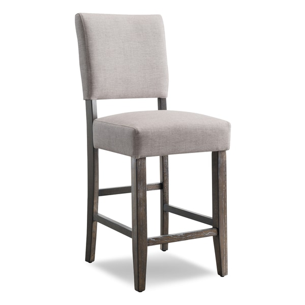 ec7cf3a5e19 Shop Heather Grey Upholstered Counter Height Stool (Set of 2) - Free ...