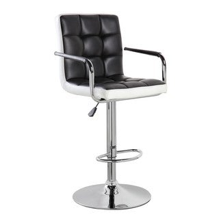 Swivel Chrome and Faux Leather Height Adjustable Bar Stool