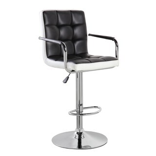 Swivel Chrome and Faux Leather Height Adjustable Bar Stool (Option: Pink)