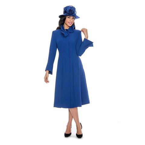 Giovanna Signature Women's Blue Washable Long-sleeve Dress