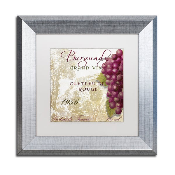 Color Bakery 'Grand Vin Burgundy' Matted Framed Art
