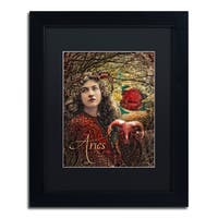 Color Bakery 'Art Nouveau Zodiac Aries' Matted Framed Art - Multi