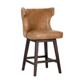 "Sunpan Neville Havana Dark Brown Swivel 26"" Counter Stool"