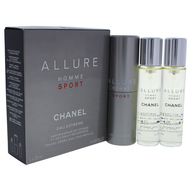 02e51f3ea5dc Shop Chanel Allure Homme Sport Eau Extreme Men's 3 x 0.7-ounce Eau Extreme ( Refills Travel Spray) - Free Shipping Today - Overstock - 14784434