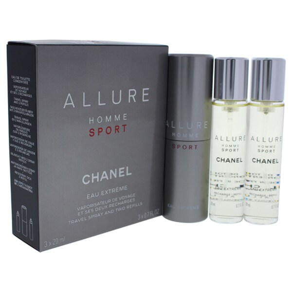 557a813ba8d Shop Chanel Allure Homme Sport Eau Extreme Men s 3 x 0.7-ounce Eau Extreme (Refills  Travel Spray) - Free Shipping Today - Overstock - 14784434