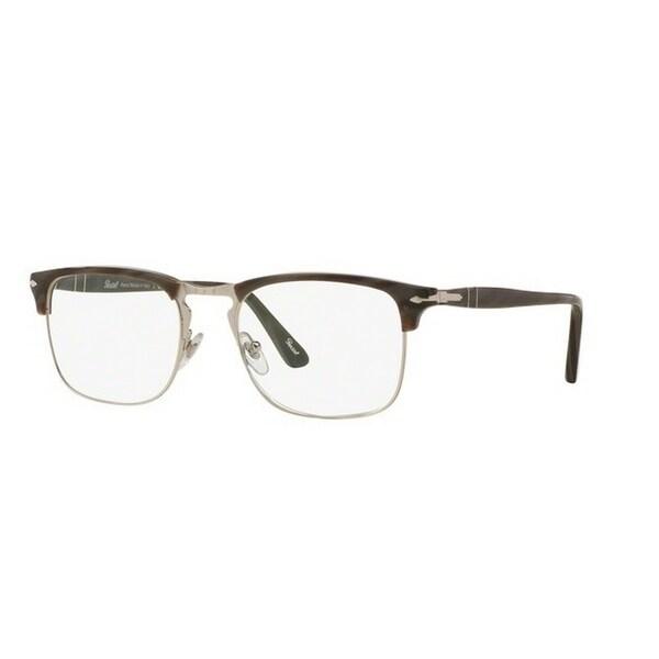8f3ff2fdaef87 Persol Men  x27 s PO8359V 1045 51 Rectangle Plastic Grey Clear Eyeglasses