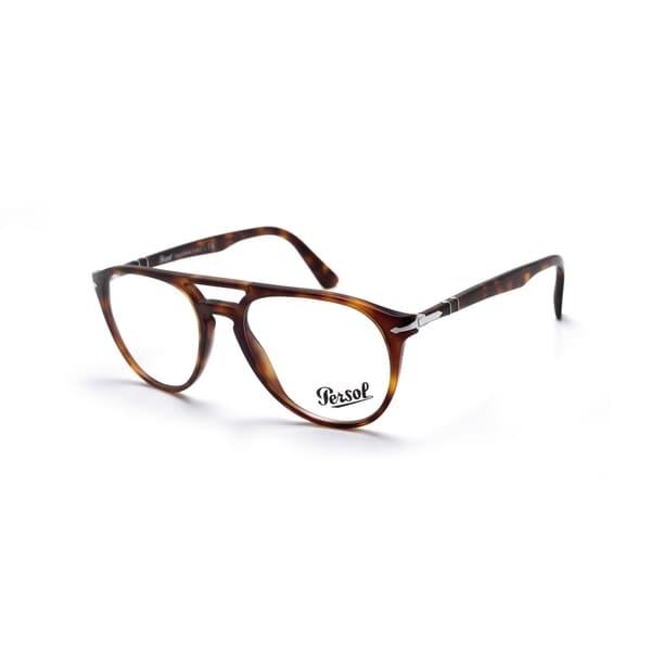 22d3a70adcd Persol Men  x27 s PO3160V 9015 52 Aviator Plastic Havana Clear Eyeglasses