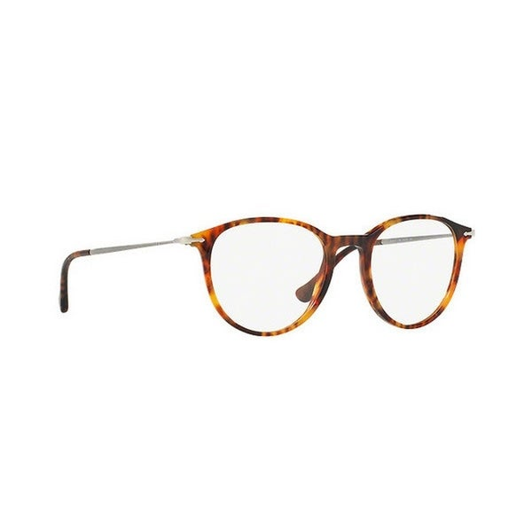 1cceb0b8a263 Shop Persol Men's PO3147V 108 50 Round Metal Plastic Havana Clear Eyeglasses  - Free Shipping Today - Overstock - 14785801