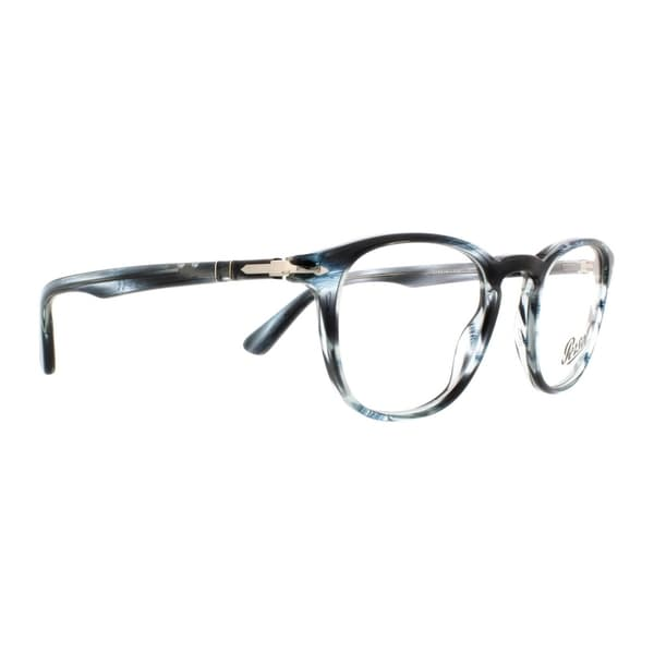 6462dbe780123 Persol Men  x27 s PO3143V 1051 47 Rectangle Plastic Blue Clear Eyeglasses