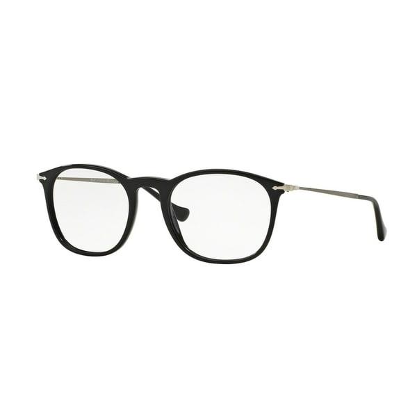 4d75a926b6b09 Persol Men  x27 s PO3124V 95 50 Square Metal Plastic Black Clear Eyeglasses