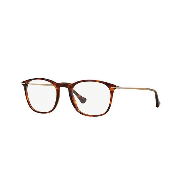 c89915a94a66c Persol Men  x27 s PO3124V 24 48 Square Metal Plastic Havana Clear Eyeglasses