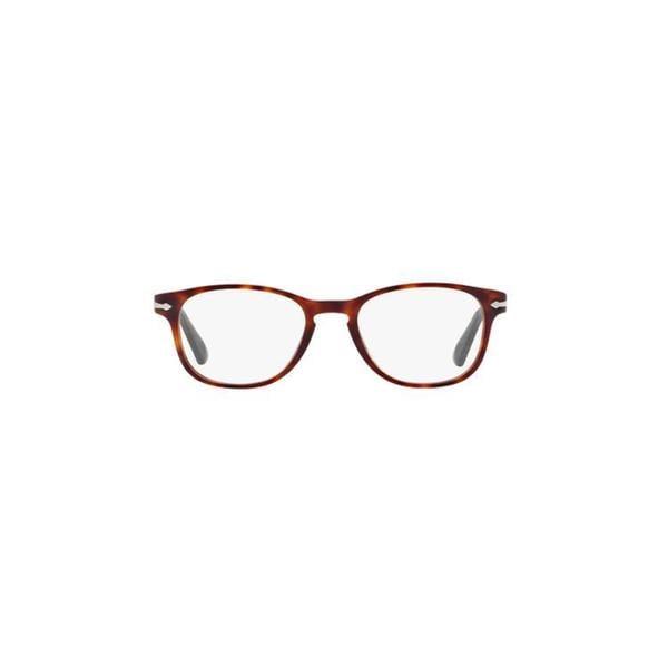 572f7bee69992 Shop Persol Men s PO3092V 1020 48 Round Plastic Clear Eyeglasses ...