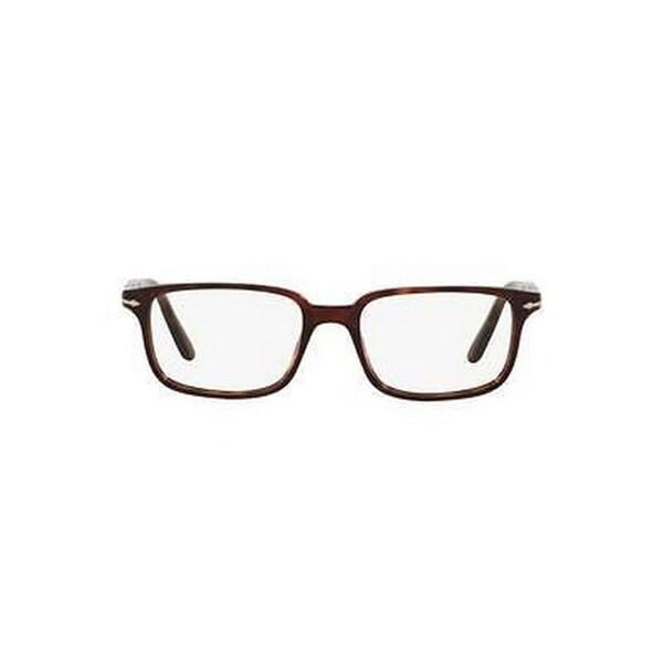 940e78eb0c Shop Persol Men s PO3013V 95 53 Square Plastic Black Clear Eyeglasses -  Free Shipping Today - Overstock.com - 14785918