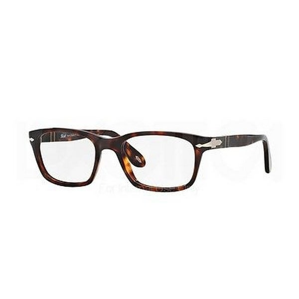 13794101cf1f4 Shop Persol Men s PO3012V 24 52 Square Plastic Havana Clear Eyeglasses -  Free Shipping Today - Overstock.com - 14785922
