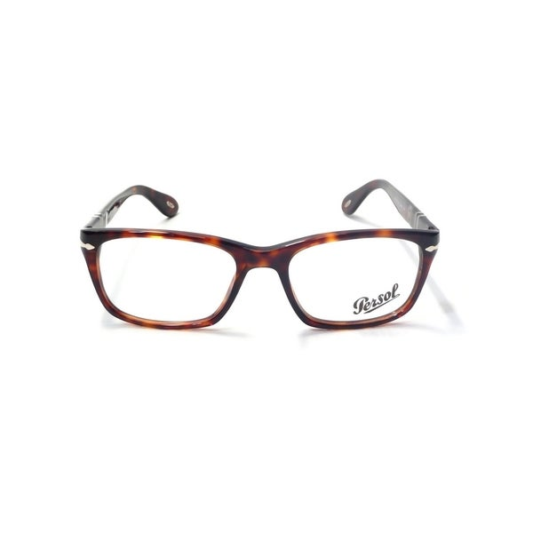 fba448c255 Shop Persol Men s PO3012V 24 52 Square Plastic Havana Clear Eyeglasses -  Free Shipping Today - Overstock.com - 14785922