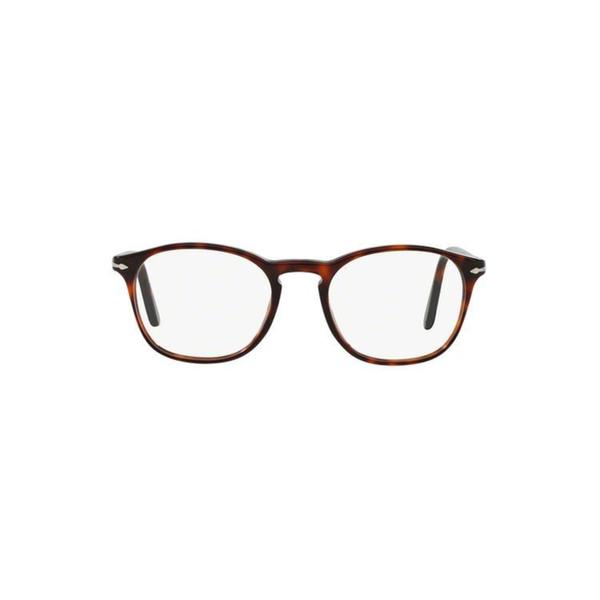 48fc8d8093f Persol Men  x27 s PO3007V 95 52 Square Plastic Black Clear Eyeglasses