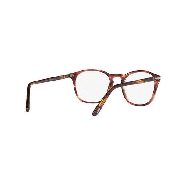 da5c8f8b718 Shop Persol Men s PO3007V 1055 50 Square Plastic Clear Eyeglasses ...