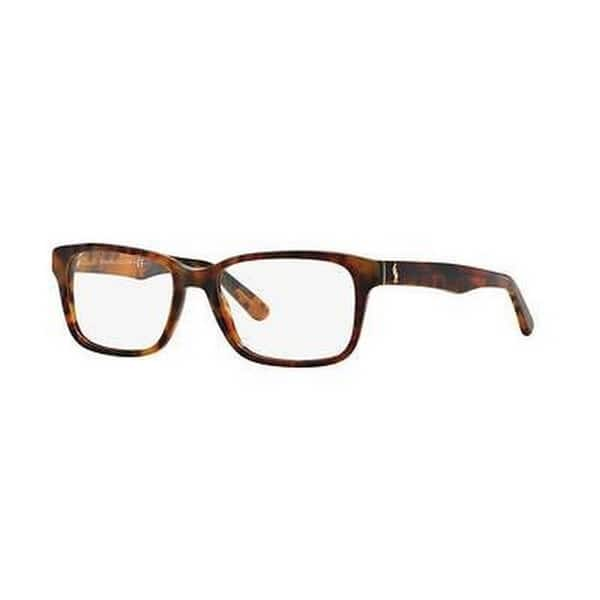 2a8cbff7fbd3 Polo by Ralph by Ralph Lauren Lauren Men s PH2141 5563 55 Rectangle Plastic Blue  Clear Eyeglasses