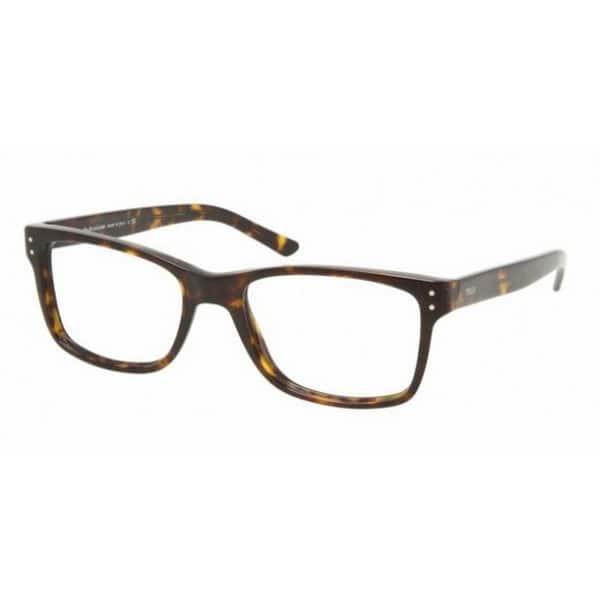 fca8f991f6cc7 Polo by Ralph by Ralph Lauren Lauren Men s PH2057 5003 53 Square Plastic  Havana Clear Eyeglasses