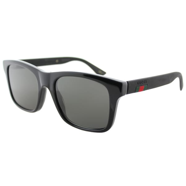 47488ca4d7 Shop Gucci GG 0008S 002 Grey Black Plastic Square Polarized Lens Sunglasses  - Free Shipping Today - Overstock - 14787039