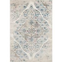 Persian Rugs Vintage Antique Designed Cream Beige Tones Area Rug (3'11 x 5'3)