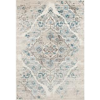 Persian Rugs Blue/Cream Area Rug (9u0027 X 12u00276)