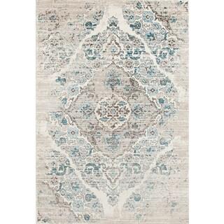 Persian Rugs Blue/Cream Area Rug (9u0027 X ...