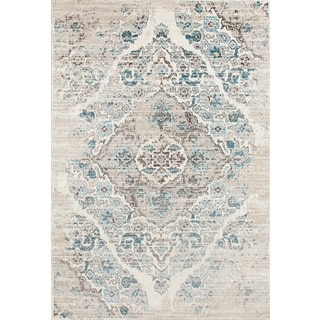 Persian Rugs Vintage Antique Designed Cream and Beige Tones Area Rug (6'5 x 9'2)
