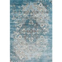 Persian Rugs Blue/Beige Vintage-style Area Rug (8'7 x 12'6) - 8'7 x 12'6