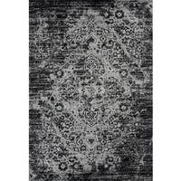 Persian Rugs Vintage Antique Designed Grey/Black Tones Area Rug (7'10 x 10'6)
